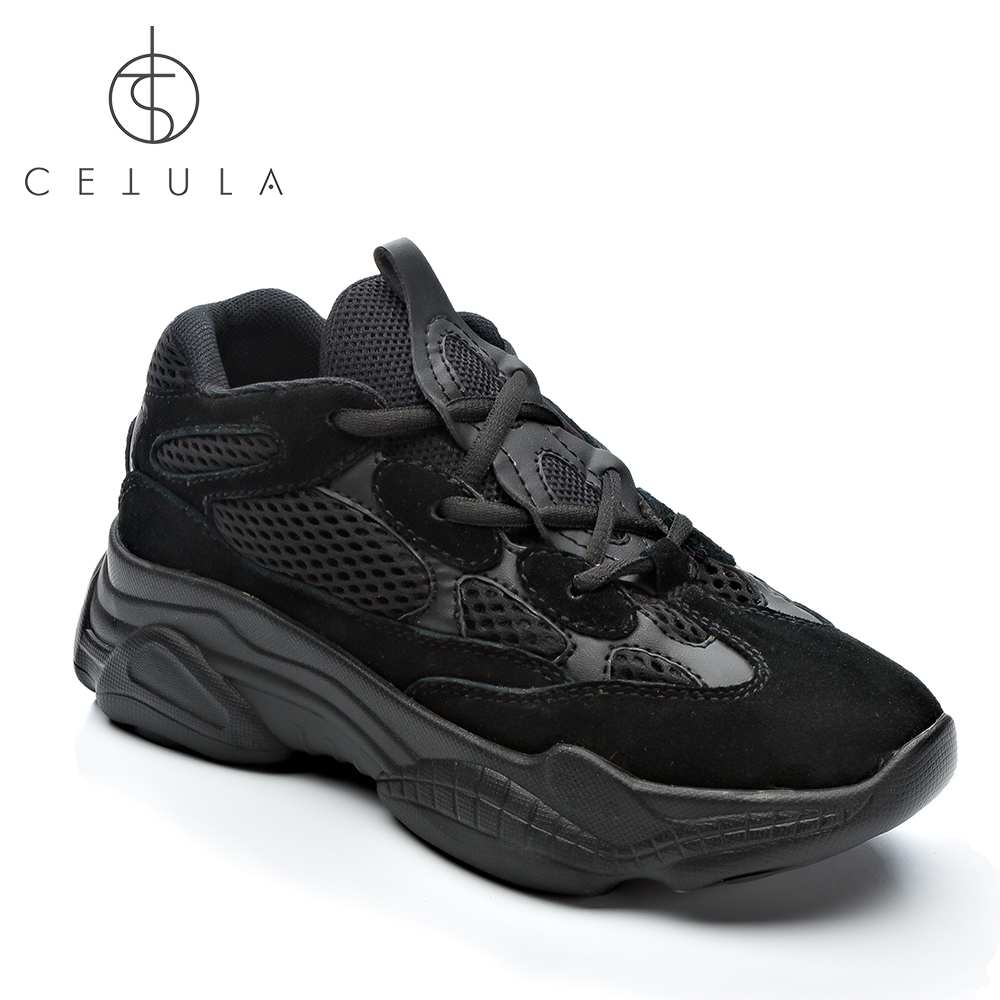 d7c6b2d3846aa5  Cetula 2018 Handcrafted Lace-up Nubuck Meshes Quilted Effect Atheleisure  Female Oversized Falt Trainers ft. Massive Out-sole
