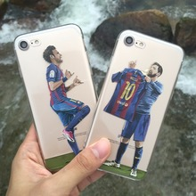 Football star phone case for iphone 6 6s se 5 s,Very charming Messi 10 Lionel Messi phone shell for iphone 7 7 plus/Neymar(China)