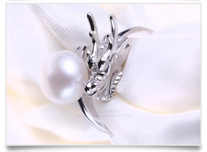 Vintage Natural Pearl Dragon Ring