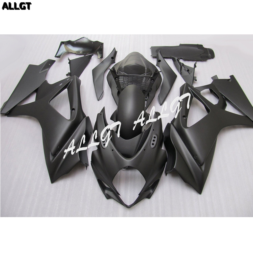 Matte Black <font><b>Fairing</b></font> kit Bodywork for SUZUKI <font><b>GSXR</b></font> <font><b>600</b></font> / 750 <font><b>2006</b></font> 2007 Pre-drilled image