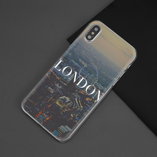 Hot Sale London City Case for Apple iPhone 7 8 Plus XS Max XR X 7+ 8+ 4 4s 5 5s SE 5C 6 6s Hard PC Fundas Capa Coque Cover Shell