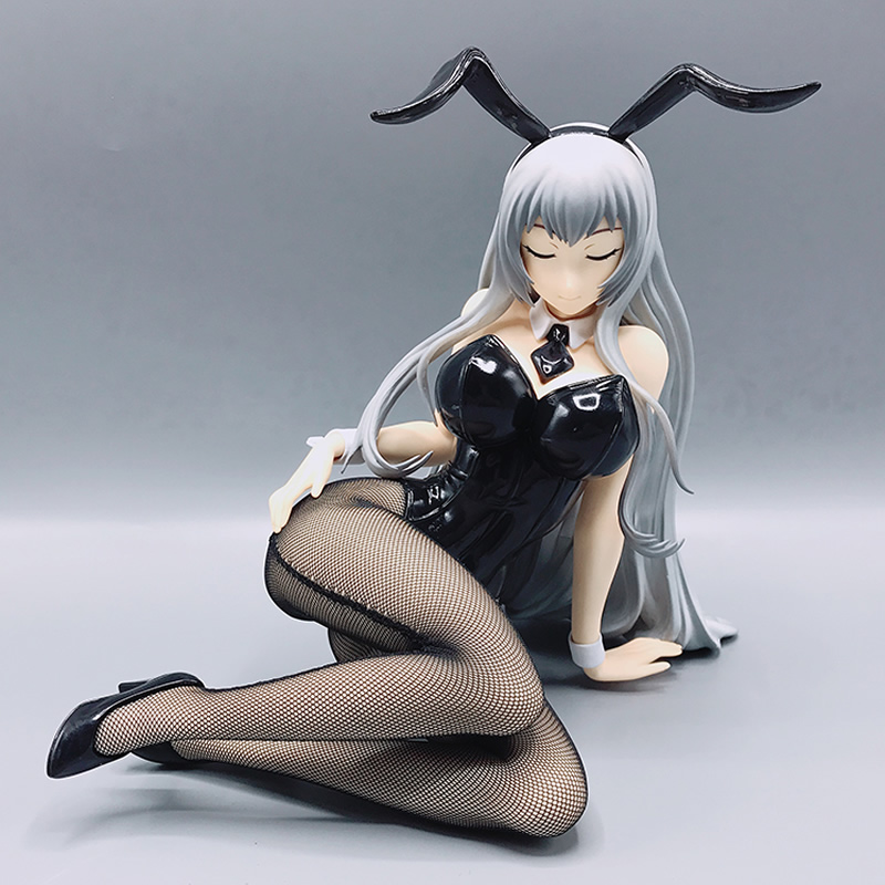 30cm 1/4 Scale Bunny GIRL Dolls ikkitousen CHYOUUN SHIRY Fishnets Ver Japanese Sexy Anime Pvc Action Figure Toy Model Collection 22cm japanese sexy anime figure native saitom nurse momoi figure examination chair ver scale pvc sexy figure model