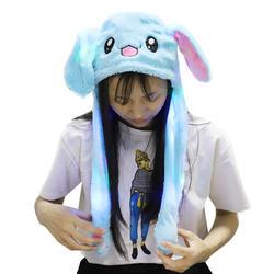 Милые детские мультфильм Плюшевые движущиеся уши шапка в форме кролика игрушки забавные взрослые ушибки мягкие уши формы в виде животных