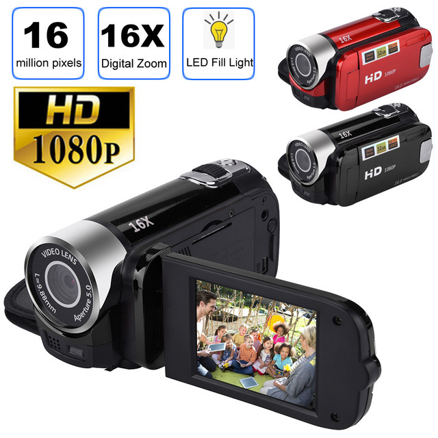 HIPERDEAL Fashion 2.7 inch TFT LCD HD 1080P 16MP 16X Digital Zoom Camcorder Video DV Camera Fashion Family Lover Gift NY26