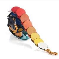2019 Women Rainbow Strap You Microfiber Bag Parts Accessories Lady Colorful Shoulder Strap Belts Replacement Handbag large strap