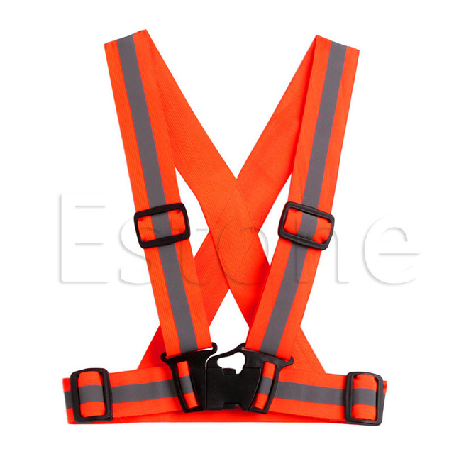 Kids Adjustable Safety Security Visibility Reflective Vest Gear Stripes Jacket 4