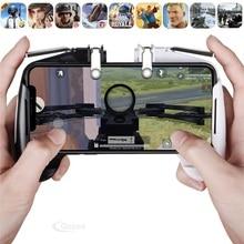 Controle para jogos de celular pubg l1r1, joystick com botão de metal para telefone, controle de gatilho, gamepad