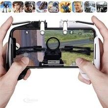 Gamepad PUBG L1R1 Mobile Controller di Gioco Fuoco Libero PUBG Periferiche E Controller Per Videogiochi Joystick Per Il Telefono Tasto del Metallo Del Telefono Gioco Controller Trigger