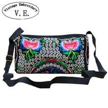 Vintage Embroidery Women Messenger Bag Retro Boho Mandala Shoulder Women's Bag Flower Crossbody Bags Small Female Handbags