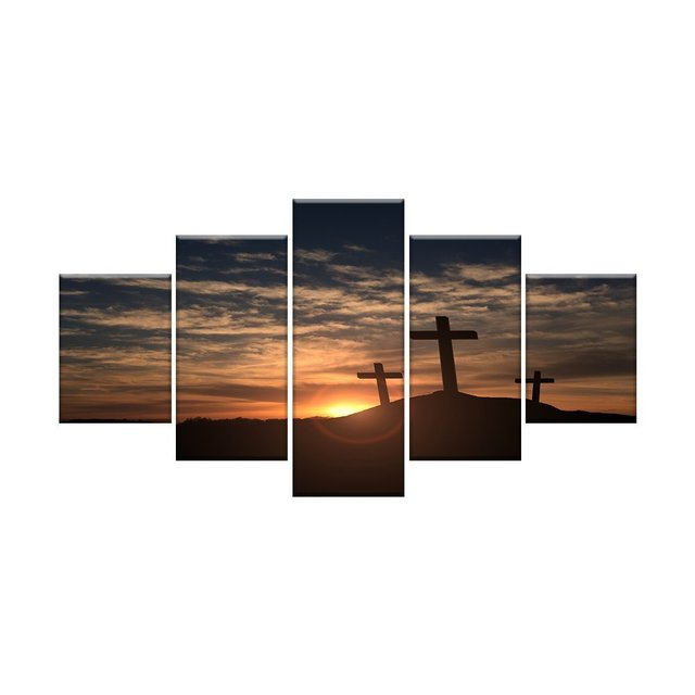 Crosses at Sunset Wall Art Canvas HD Prints Art Home Decor for ...