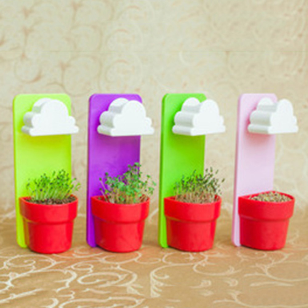 Good Quality Hanging Pot Creative White Clouds Rainy Wall Hung Flower Yard Plants Home New Decor