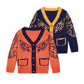 2017 cotton knitted sweater cardigan children Autumn winter outfit new child v-neck king of the forest leisure coat