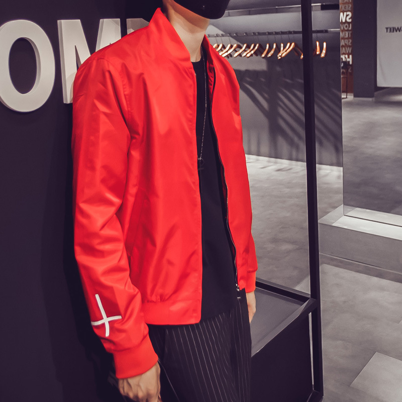 Abrigos Red Mens Jacket Chaqueton Y Black Denim Bomber Y46qHH