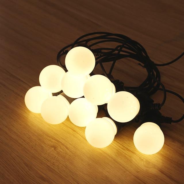 10 Mt 20LED Globe String Licht Klar/Milchig Lampen schnur licht ...