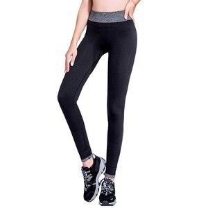 Image 2 - SVOKOR mallas deportivas de secado rápido para mujer, Leggings S XL a rayas, profesionales, de secado rápido
