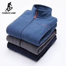 Pioneer Camp warm fleece hoodies brand-clothing autumn winter zipper sweatshirts male