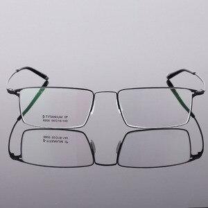 Image 5 - BCLEAR Classic Men Pure Titanium Full Rim Glasses Frames Myopia Optical Frame Ultra light Slim Eyeglasses Frame Black Gray Color