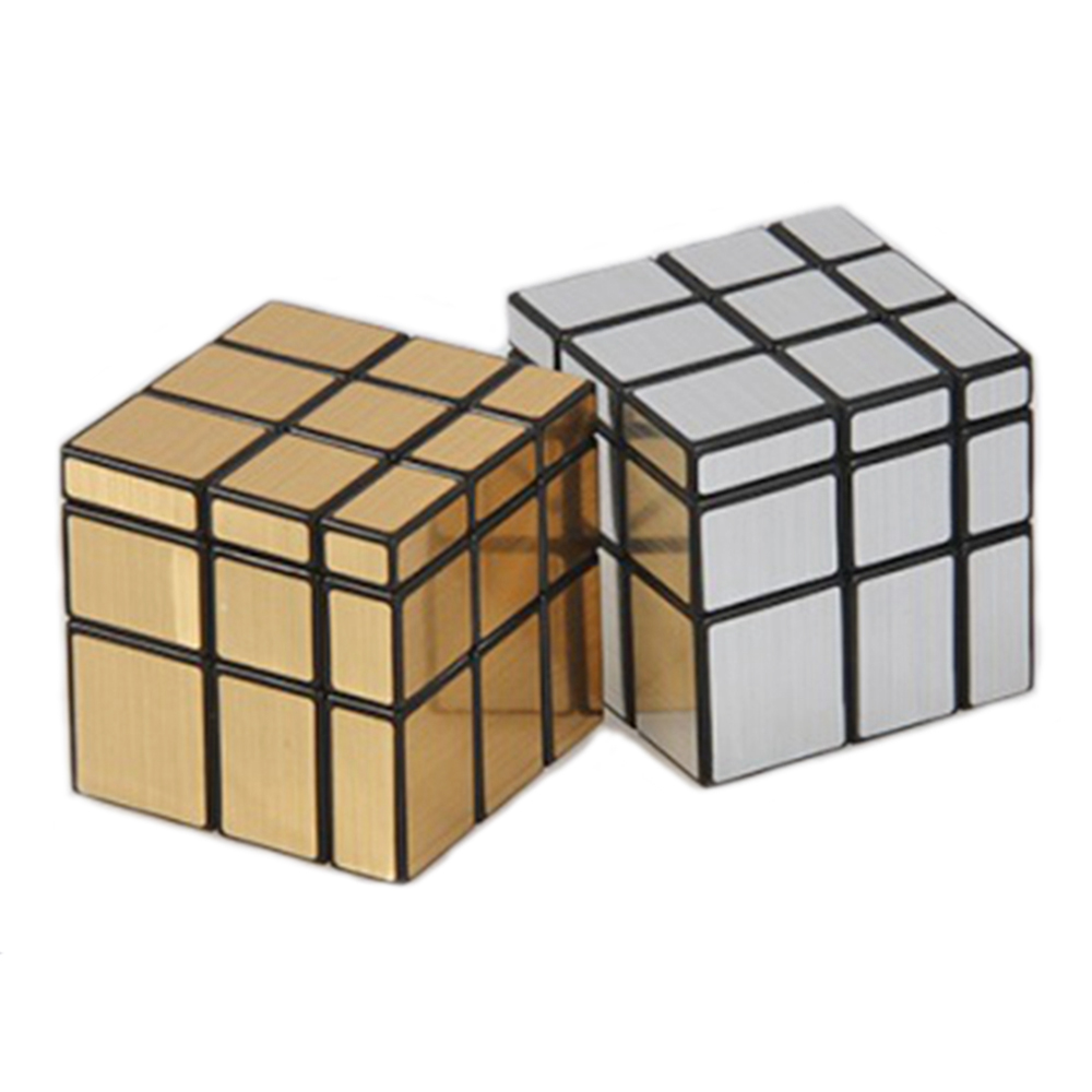 ShengShou SS 57mm Speilblokker Cast Coated 3x3x3 Magic Cube Speed ​​Puzzle Cubes Bursdagskort Pedagogisk Leker For Barn Barn