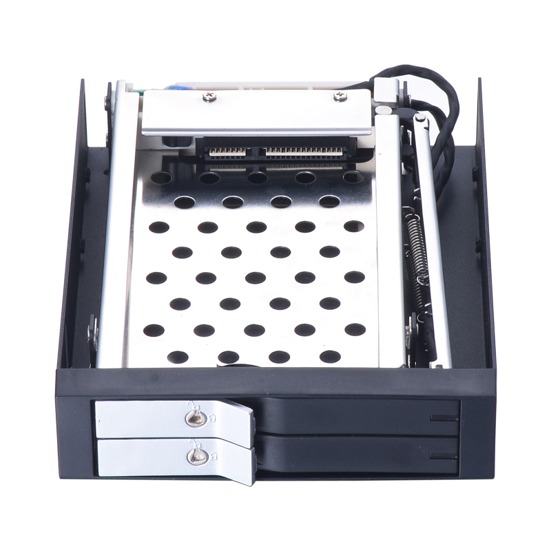 dual bay 2.5 inch SATA internal hdd mobile rack with lock for floppy pc bay with hot swap hdd enclosure 2 5 sata ii hdd 2 bay internal mobile rack enclosure max 2tb