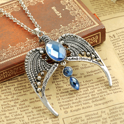 Movie Harri Potter Ravenclaw Aquila Metal Necklace Cosplay Prop Alloy Pendant For Men Women Gift