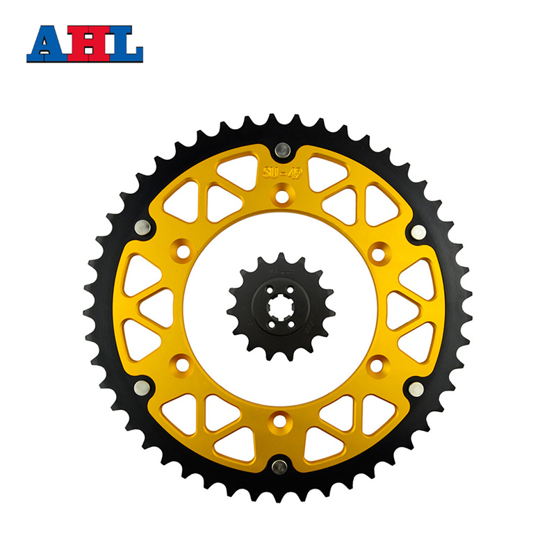 Motorcycle Parts 49-15 T Front & Rear Sprockets Kit For SUZUKI TS200R TS 200R TS200 TS 200 R 1989-1994 Gear Fit 520 Chain motorcycle parts front