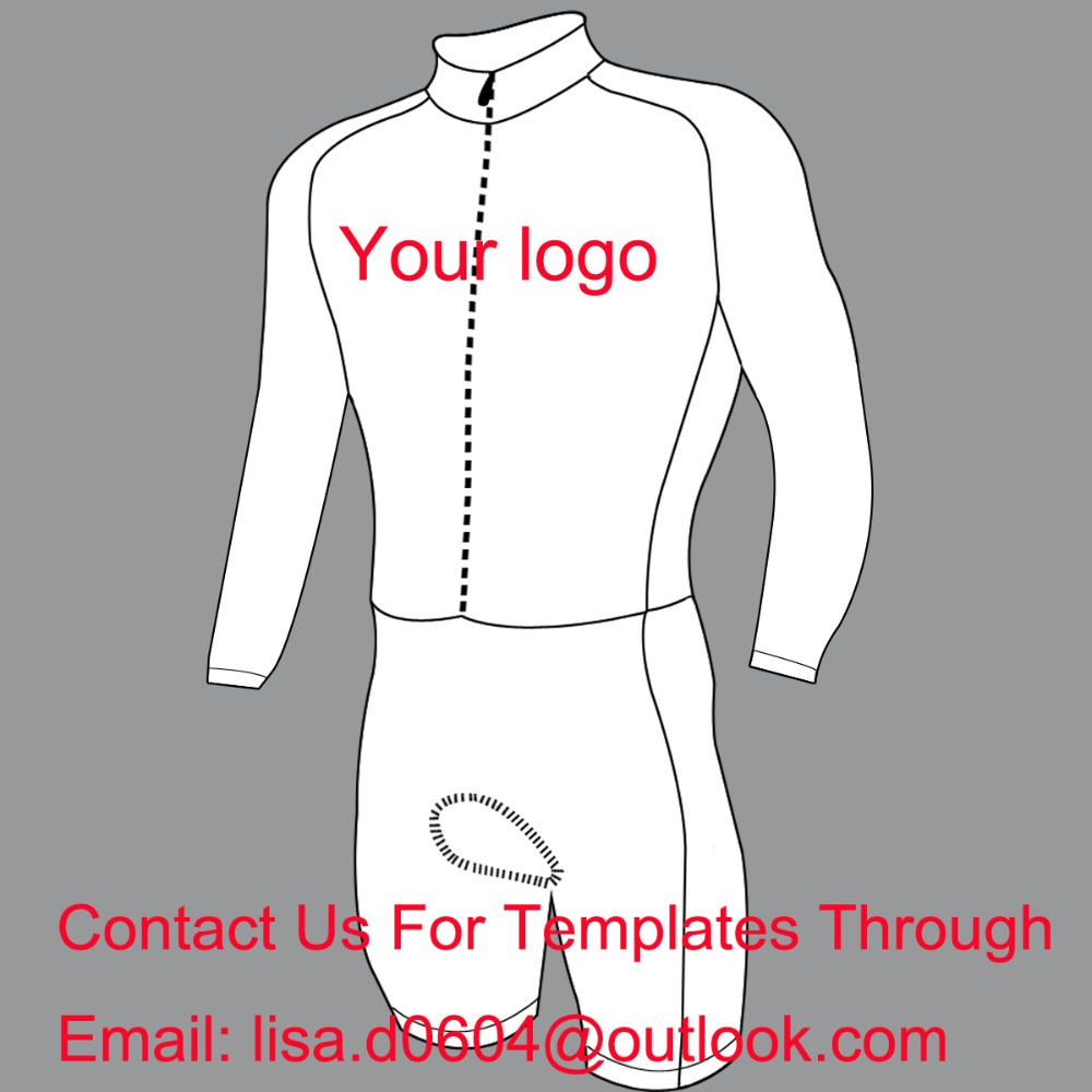 2019 Without min order, Custom Cycling Skinsuit Long sleeve Any Design Colour and Sizes 100% Lycra High quality