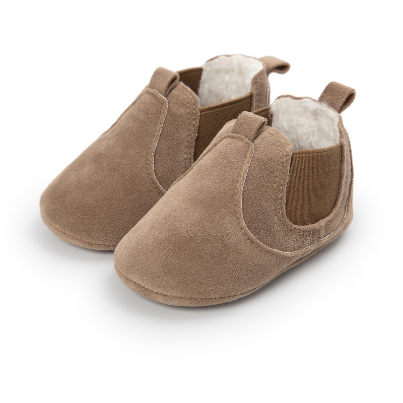 Autumn Winter Baby Boys Girls Fashion Shallow Moccasins Baby Elastic Soft Rubber Sole Anti Slip Shoes