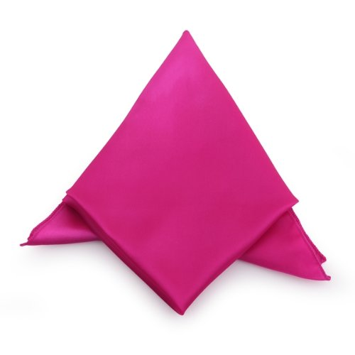 Hot Pink Cloth Napkins Satin For Banquet Dinner Party 51x51cm