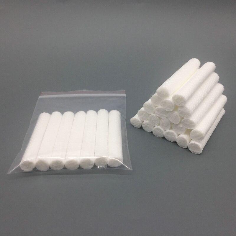 2018 ホット販売 1000 ピース交換ブランク吸入器芯、エッセンシャルオイルのための綿芯プラスチック鼻吸入器、送料無料  グループ上の 美容 & 健康 からの 綿棒 の中 1