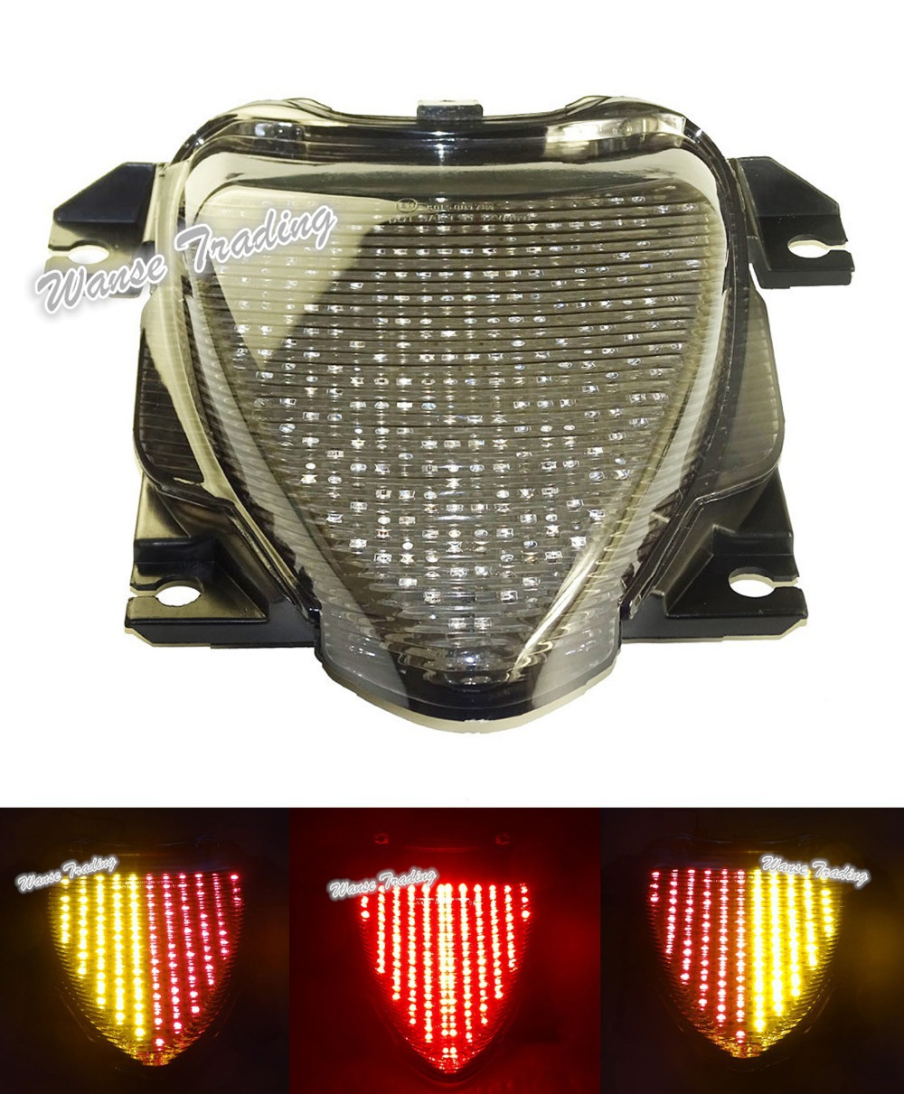 E-Marked Tail Brake Turn Signals Integrated Led Light Smoke For 2006-2015 2009 2012 2014 SUZUKI Boulevard M109R VZR1800 M1800R aftermarket free shipping motorcycle parts led tail brake light turn signals for honda 2000 2001 2002 2006 rc51 rvt1000r smoke