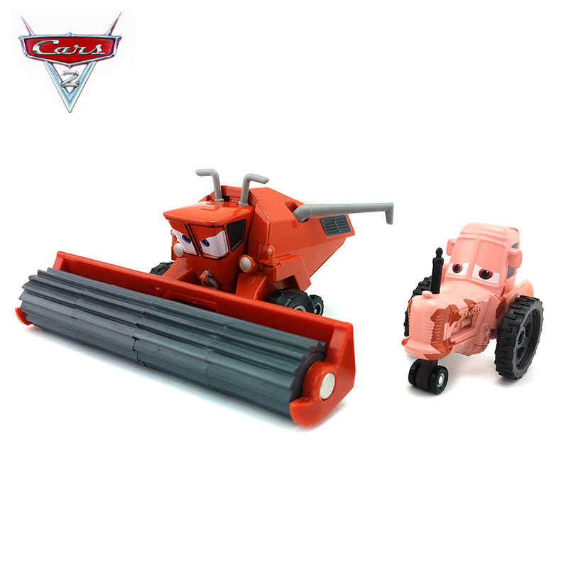 Disney Pixar Cars 2 Children's Toy Model Frank Combine Harvester Bulldozer Alloy Car Toys Best Boy Birthday Christmas Gift