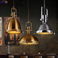 IWHD Edison Style Loft Vintage Industrial Pendant Lights Iron Retro Light Fixtures Glass Lampshape Hanglamp Living