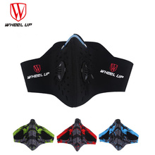 WHEEL UP Windproof Cycling Face Mask With Dust Filter Anti Pollution Dustproof Road Bike Winter Cold Running Mask Face Cover