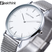2016 New Ultra Slim Top GEEKTHINK Brand Quartz Watch Men Casual Business JAPAN Analog Watch Men