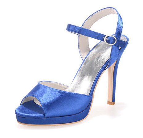 Creativesugar Elegant satin sandals summer style ankle strap woman heel  stiletto shoes wedding party prom purple red blue white-in High Heels from  Shoes on ... e25b359e16cf