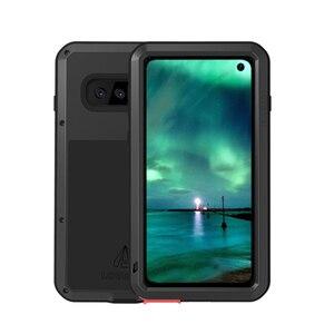 Image 4 - Miłość Mei obudowa marki dla Samsung Galaxy A9 A6 A8 Plus 2018 S10 Plus S10E S10 5G A70 2019 metalowy pancerz, odporna na wstrząsy telefon obudowa