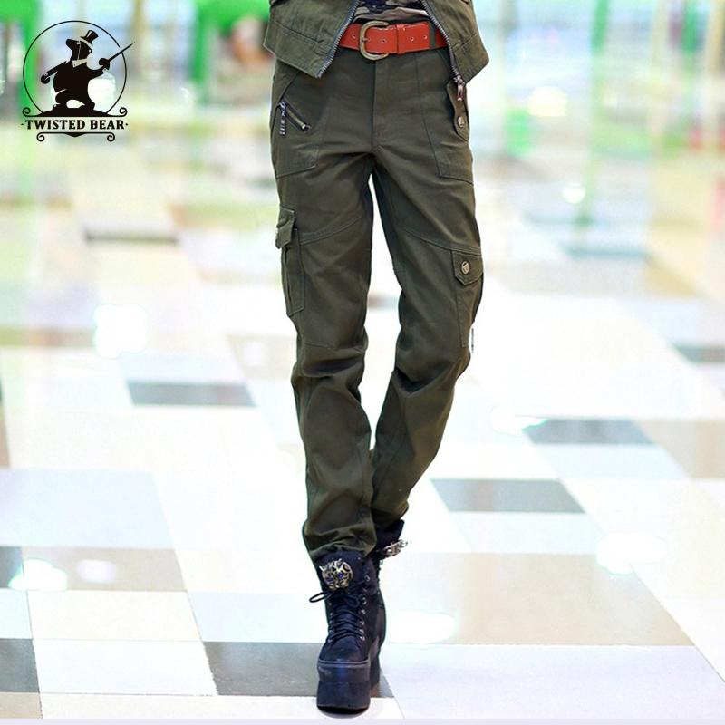 New Women's Military Uniform Pants Fashion Army Green Camouflage Plus Size 100% Cotton Causal Cargo Pants Women D32B1596
