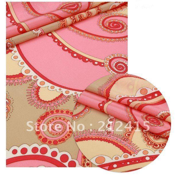 Fast free shipping/100%  Crepe de chine  silk guarantee/#LS0750 silk fabric for dress