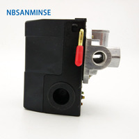 NBSANMINSE SMF 10 1/4 G NPT Air Compressor Pressure Switch For Easy Mounting Of Valve And Gauges Air Pressure Switch