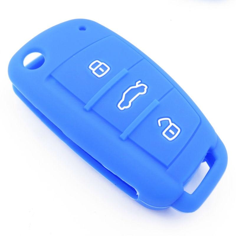 Silikon Anahtar Kapak Durumda Audi A1 Için A3 A4 A5 A6 A7 A8 Q5 Q7 - Araç Içi Aksesuarları - Fotoğraf 5