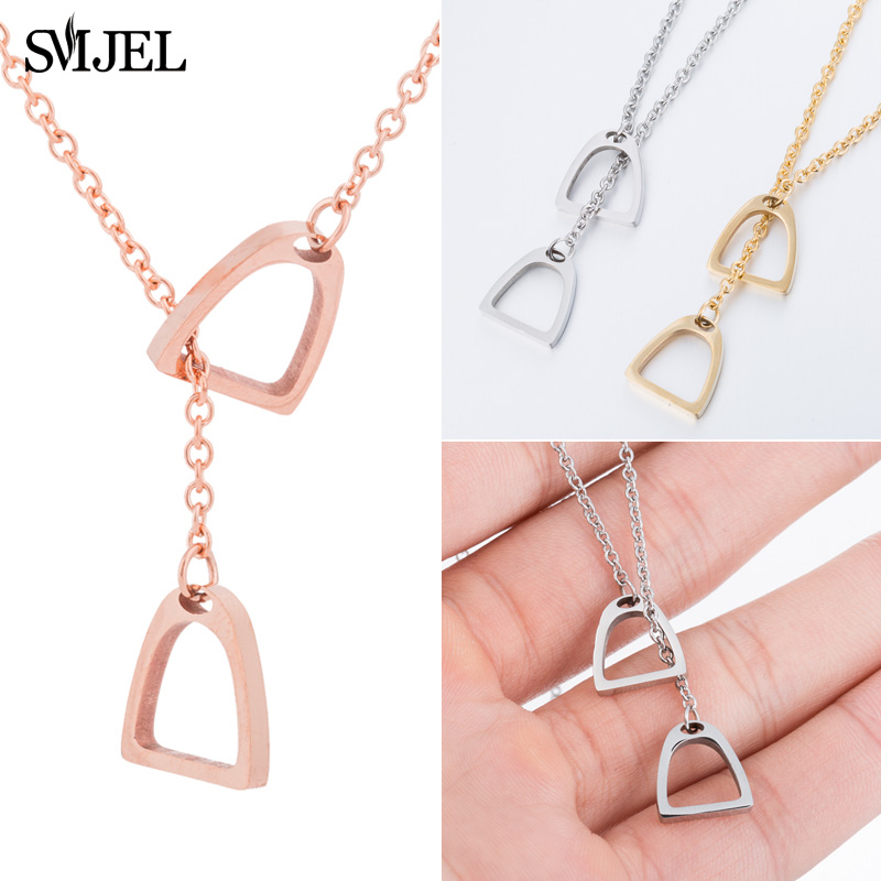 SMJEL Horse Necklace For Girls Children Men Punk Horse Jewelry Accessories Women Animal Necklace Pendant Unicorn Party in Pendant Necklaces from Jewelry Accessories