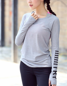 Image 4 - Fitness Breathable Sportswear Women T Shirt Sport Suit Yoga Top Quick Dry Running Shirt Gym Clothes Sport Shirt Jacket  P189