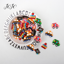 JOJO BOWS 10pcs DIY Craft Supplies Back To School Planar Resin Accessories For Bag Decoration Phone Case Sticker Apparel Patch