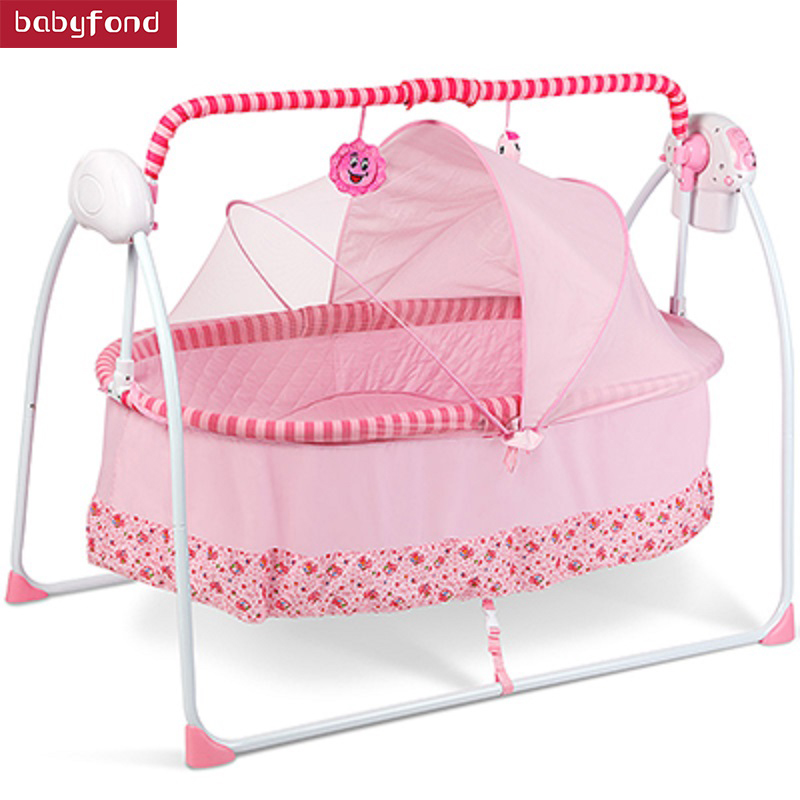 Large Version Of The Baby Electric Cradle Bed Hammock Chair Smart Baby Children Automatic Cradle With Remote Control Sleep