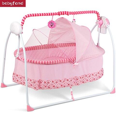 grande versao de rede cadeira do bebe cama berco eletrico bebe criancas berco automatico com
