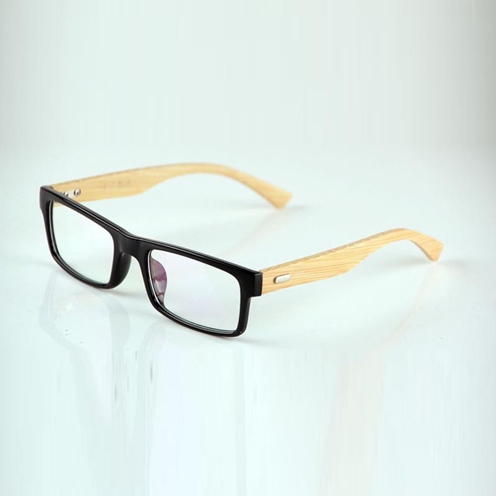 Tr90-Frame Prescription-Glasses Myopia Photochromic Women Bamboo for Custom-Made Grey/brown