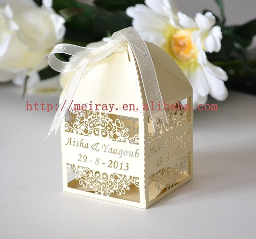 goldwhite wedding graduation party favorsArabic candy box UAE