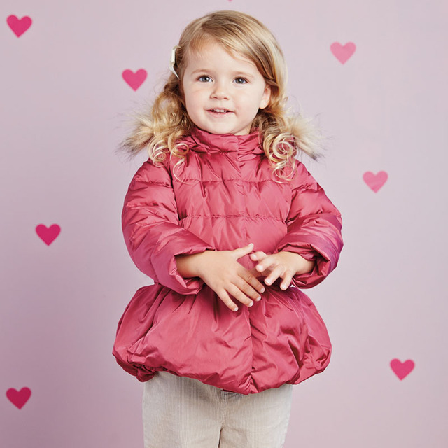 DB2744N dave bella infantil casaco bebê jaqueta acolchoada meninas acolchoado casaco de inverno meninas para baixo casaco jaqueta