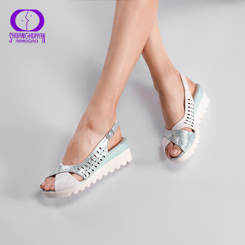 AIMEIGAO Wedges Platform High Heels Women Sandals Fashion Female Open Toe Shoes Platform Summer Style Sandals Casual Shoes 2018new arrival ladies party shoes women sandals summer open toe fashion platform high heels brand designer sandals female shoes