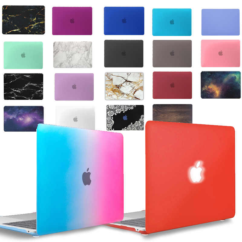 Kk & Ll Matte Hard Shell Laptop Case Voor Apple Macbook Air Pro Retina 11 12 13 15 & Nieuwe air 13 / Pro 13 15 Inch Met Touch Bar